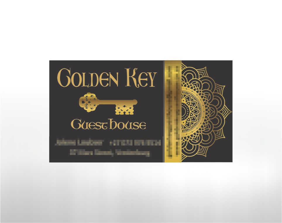 GoldenKey Guesthouse – Business Card